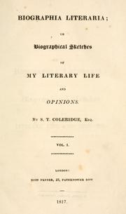 Cover of: Biographia literaria