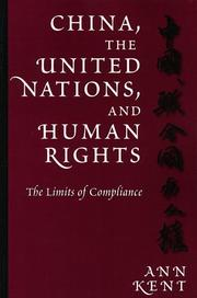 Cover of: China, the United Nations, and Human Rights