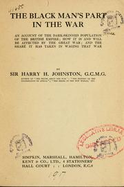 Cover of: The black man's part in the war