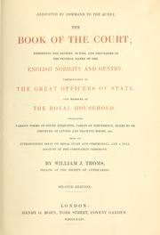 Cover of: book of the court | William John Thoms