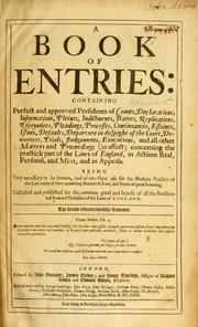 A book of entries by Coke, Edward Sir