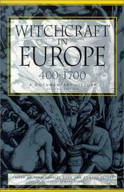 Cover of: Witchcraft in Europe, 400-1700 |