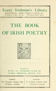 Cover of: The book of Irish poetry