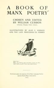 Cover of: A book of Manx poetry by William Cubbon