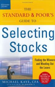 Cover of: The Standard & Poor's Guide to Selecting Stocks