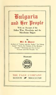 Cover of: Bulgaria and her people
