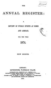 Cover of: Annual Register
