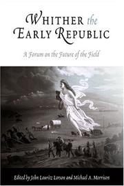 Cover of: Whither the early republic
