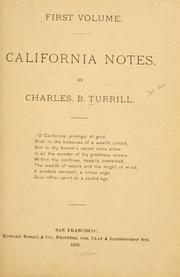 Cover of: California notes
