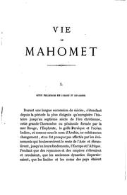 Cover of: Vie de Mahomet | Washington Irving