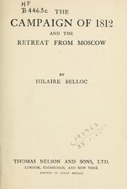 Cover of: The campaign of 1812 and the retreat from Moscow