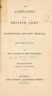 campaigns of the British army at Washington and New Orleans