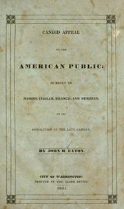 Cover of: Candid appeal to the American public