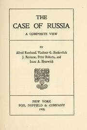 Cover of: The case of Russia