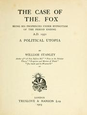 Cover of: The case of The. Fox