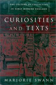 Cover of: Curiosities and texts | Marjorie Swann
