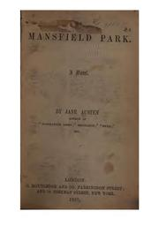 Cover of: Mansfield Park: A Novel