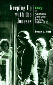 Cover of: Keeping Up with the Joneses | Susan J. Matt