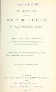 Cover of: Chapters in the history of the insane in the British Isles