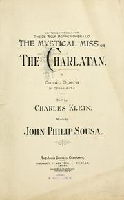 Cover of: The charlatan: comic opera in three acts
