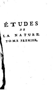 Cover of: Etudes de la nature