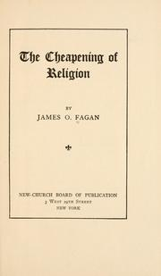 Cover of: The cheapening of religion