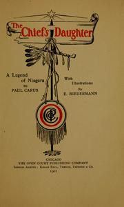 Cover of: The chief's daughter: a legend of Niagara