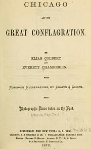Cover of: Chicago and the great conflagration