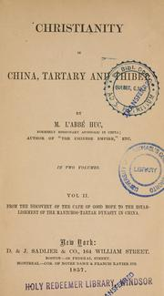 Cover of: Christianity in China, Tartary and Thibet | Evariste RГ©gis Huc