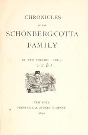 Chronicles of the Schönberg-Cotta family by Elizabeth Rundle Charles