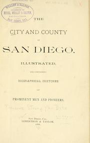 Cover of: The city and county of San Diego