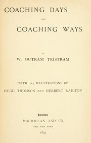 Cover of: Coaching days and coaching ways