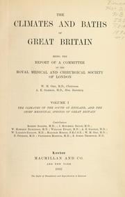Cover of: The climates and baths of Great Britain