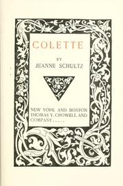 Cover of: Colette | Jeanne Schultz