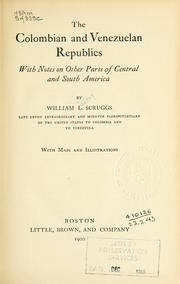 Cover of: Colombian and Venezuelan Republics | Scruggs, William Lindsay
