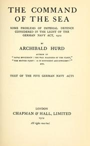 Cover of: The command of the sea