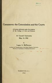 Cover of: Commerce, the Commission and the courts