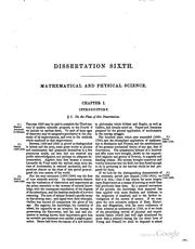 Cover of: Dissertation Sixth: Exhibiting a General View of the Progress of ..