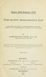 Cover of: Comparative administrative law