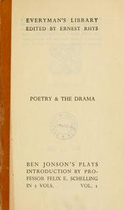 Cover of: The complete plays of Ben Jonson