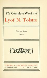 Cover of: The complete works of Lyof N. Tolstoĭ