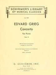 Cover of: Concerto for piano