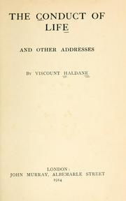 Cover of: The conduct of life: and other addresses