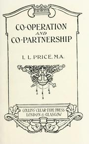 Co-operation and co-partnership by Price, L. L.