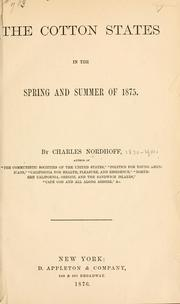 Cover of: The cotton states in the spring and summer of 1875