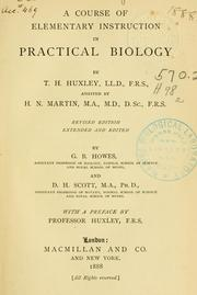 Cover of: A course of elementary instruction in practical biology