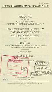 Cover of: The Court Arbitration Authorization Act