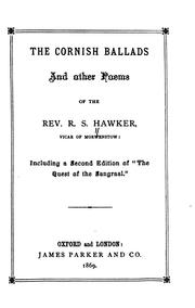 Cover of: The Cornish Ballads and Other Poems