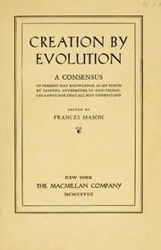 Cover of: Creation by evolution | Frances Baker Mason