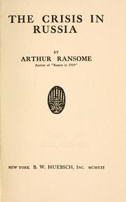 The Crisis in Russia by John Arthur Ransome Marriott